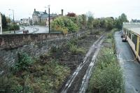 Looking west over the former Alloa station site.<br><br>[Ewan Crawford&nbsp;23/10/2005]