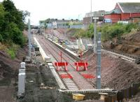 New station under construction at Larkhall in July 2005. View north from MacNeil Street.<br><br>[John Furnevel&nbsp;17/07/2005]