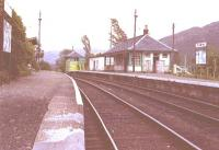 Glenfinnan in August 1982. The station was staffed and the signal box still in use.<br><br>[John Gray&nbsp;//1982]