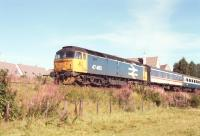 47 460 approaches Aviemore from Inverness, Summer 1990.<br><br>[John Gray&nbsp;//]