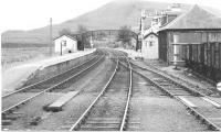 An August 1982 view of Achnasheen on the Inverness/Kyle of Lochalsh line. The signal box, semaphore signals and the goods shed no longer exist although some sidings remain for engineering use. <br><br>[John Gray&nbsp;//]