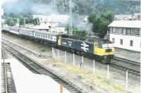 47 636 <i>Sir John De Graeme</i> is pictured passing Aviemore signal box with an Inverness train.<br><br>[John Gray&nbsp;//]