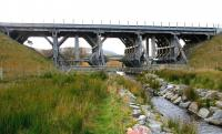 The refurbished and strengthened wooden viaduct at Moy in 2005.<br><br>[John Furnevel&nbsp;01/11/2005]
