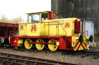 J&B liveried industrial 0-6-0 shunter - Dufftown, November 2005. The locomotive formerly worked at Cameron Bridge distillery, Fife, from whom it is currently on extended loan. <br><br>[John Furnevel&nbsp;02/11/2005]
