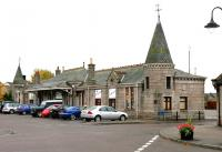 Approaching the forecourt of the former Aboyne station in November 2006, now part of a shopping centre.<br><br>[John Furnevel&nbsp;10/11/2006]