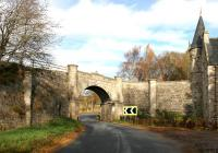 Bridge over the A939 just north of Grantown on Spey adjoining the gatehouse entrance to Castle Grant. A halt was provided here. <br><br>[John Furnevel&nbsp;01/11/2005]