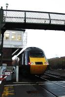 A HST 125 enters Arbroath from the north and passes the signalbox.<br><br>[Ewan Crawford&nbsp;//2005]