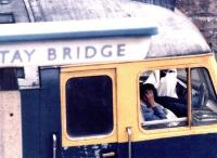 Driver stress, Dundee, 1993. Dundee Tay Bridge had been officially renamed Dundee in 1966, the year after the closure of Dundee West station.<br><br>[John Furnevel&nbsp;15/05/1993]