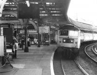 A Glasgow Queen Street - Aberdeen train arrives at Dundee on 12 August 1981. The locomotive is 47119.<br><br>[John Furnevel&nbsp;12/08/1981]
