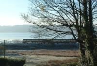 SPT train running beside the Clyde just east of Cardross on a frosty November morning.<br><br>[Beth Crawford&nbsp;18/11/2005]