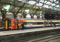 East Midlands Trains unit 158856 stands at Liverpool Lime Street on 22 December 2014 forming the 1452 service to Norwich.<br><br>[Veronica Clibbery&nbsp;22/12/2014]
