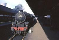 Perth based Black 5 no 44722 shortly after arrival at Buchanan Street on 25 March 1964.<br><br>[John Robin&nbsp;25/03/1964]