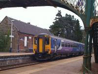 Northern 156443 departing Dalston, Cumbria, on 20 May 2012 bound for Carlisle.<br><br>[Brian Smith&nbsp;20/05/2012]