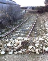 <I>'I think we'll strike that one out as a through line...' </I> Disused siding at Goonbarrow in November 2014 - view towards the Newquay branch.<br><br>[Ken Strachan&nbsp;28/11/2014]