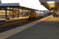 A Northern Class 150 calls a Blackburn's platform 4 with a late afternoon service from Clitheroe to Manchester Victoria on 31 January 2015.<br><br>[John McIntyre&nbsp;31/01/2015]