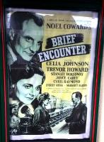 An original poster for the 1945 film <I>Brief Encounter</I>, much of which was shot at Carnforth station, on display there 70 years on.<br><br>[Ken Strachan&nbsp;28/01/2015]