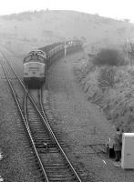 37676 with coal from Killoch about to join the Mauchline - Ayr line at Annbank Junction, on a grey and overcast 17 April 1989.<br><br>[Bill Roberton&nbsp;17/04/1989]
