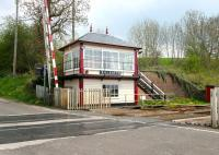 The signal box and level crossing at Culgaith on the Settle and Carlisle Line in May 2006.<br><br>[John Furnevel&nbsp;/05/2006]