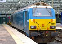 67003 in Arriva Trains Wales blue is the ECML rescue loco at Waverley on 12 February.<br><br>[Bill Roberton&nbsp;12/02/2015]
