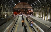 Late evening view over platforms 1 - 4 at King's Cross on 10th February 2015.<br><br>[Colin McDonald&nbsp;10/02/2015]