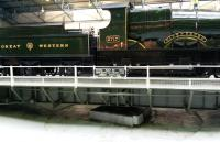 Great Western 4-4-0 <I>City of Truro</I> being turned on the John Boyd and Co turntable at the National Railway museum on 17 February 2015.<br><br>[Brian Smith&nbsp;17/02/2015]