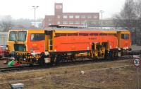A Colas Rail tamper stabled in Newark Northgate sidings on 10th February 2015.<br><br>[Colin McDonald&nbsp;10/02/2015]
