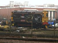 Shunter 08669 <I>Bob Machin</I> in the yard at Wabtec, Doncaster, on 10th February 2015. <br><br>[Colin McDonald&nbsp;10/02/2015]