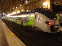 The new order for the Picardie region services are these Alstom Regiolis EMUs, with unit 84519L seen in Gare Du Nord station on the evening of 24 February. [See image 50512]<br><br>[David Pesterfield&nbsp;24/02/2015]