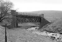The bridge which carried the Kennox Colliery branch over the Douglas Water just to the east of Inches station.<br><br>[Bill Roberton&nbsp;//1989]