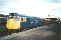 27001 stands at the head of a train at Bo'ness in 1998 during a diesel weekend.<br><br>[David Panton&nbsp;//1998]