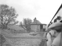 <I>Scottish Rambler no 3</I> passing Haywood station (1868-1951) on the Wilsontown Branch, South Lanarkshire, on 29 March 1964, the year the branch closed completely. <I>Crab</I> 2-6-0 42737 propelled the special along the branch on this section of the tour. [Ref query 6664]<br><br>[John Robin&nbsp;29/03/1964]