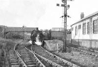 The 5.22pm worker's train stands in the bay platform at Clydebank Riverside on 27 September 1957. The locomotive in charge is Dawsholm shed's Stanier 3P 2-6-2 tank no 40177.  <br><br>[G H Robin collection by courtesy of the Mitchell Library, Glasgow 27/09/1957]