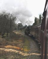 Fifty years and one day after BR closure of the line from Grosmont to Rillington Junction, K4 <I>The Great Marquess</I> and K1 62005 re-unite to storm the 1 in 49 to Goathland with the 10.00 Whitby to Pickering, just as they had done in 1965. Somehow the moguls designed for the West Highland Line look completely at home on the North Yorkshire Moors.<br><br>[Brian Taylor&nbsp;07/03/2015]
