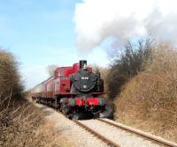 Polish TKH 0-6-0T No 3135 <I>Spartan</I> in action on 7 March 2015 after leaving Blunsdon.<br><br>[Peter Todd&nbsp;07/03/2015]