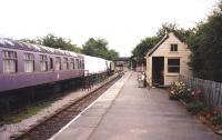 Platform scene at Blunsdon in July 1998, looking towards Swindon.<br><br>[Colin Miller&nbsp;03/07/1998]