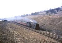 46140 <I>The King's Royal Rifle Corps</I> with a Carlisle - Glasgow stopping train at Shilford on 1 April 1965. [Ref query 4268]<br><br>[John Robin&nbsp;01/04/1965]
