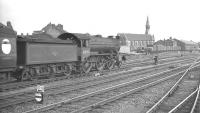 The 4.54pm train to March leaving Doncaster for the south on 8 July 1961. Locomotive is Gresley K3 2-6-0 no 61859.<br><br>[K A Gray&nbsp;08/07/1961]