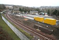 Progress at Gorebridge on 16 March 2015 looking south from Station Road.<br><br>[John Furnevel&nbsp;16/03/2015]