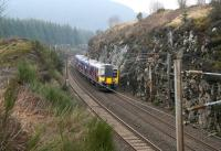 TransPennine emu 350405 approaching Beattock summit on 18 March 2015 with the 1100 Manchester Airport - Glasgow Central. <br><br>[John Furnevel&nbsp;18/03/2015]