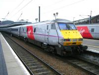 <I>'Skyfall'</I> DVT 82231 on a Virgin Trains East Coast service calling at York on 19 March 2015. <br><br>[Veronica Clibbery&nbsp;19/03/2015]
