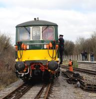 Class 73 E6003 <i>Sir Herbert Walker</i> at Taw Valley Halt on 21 March 2015 during the Swindon and Cricklade Railway's Diesel Day.<br><br>[Peter Todd&nbsp;21/03/2015]