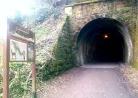 The north portal of Colinton Tunnel on the Balerno branch on 22 March 2015. The branch lost its passenger service in 1943 and closed completely in 1967. [See image 20499]<br><br>[John Yellowlees&nbsp;22/03/2015]