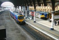 View south from the footbridge at York station on 17 March 2015.<br><br>[Veronica Clibbery&nbsp;17/03/2015]