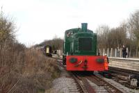 BR class 03 D2152 at Taw Valley Halt on the Swindon and Cricklade Railway on 21 March 2015.<br><br>[Peter Todd&nbsp;21/03/2015]