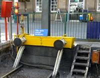 Buffer stop at Waverley east end - remember to set the handbrake. The little dent in the middle possibly the result of a centre coupler?<br> <br><br>[Colin Miller&nbsp;23/03/2015]