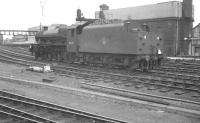 Holbeck Jubilee 45605 <I>Cyprus</I> photographed from the platforms of Newcastle Central station on the afternoon of Saturday 23 June 1962. [See image 37526] <br><br>[K A Gray&nbsp;23/06/1962]