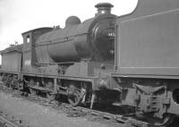 J37 0-6-0 64569 stabled in the shed yard at Thornton Junction in the summer of 1966.<br><br>[K A Gray&nbsp;//1966]