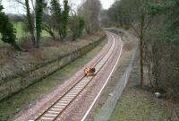 Another walker heading south towards Eskbank, 27 March 2015 [see image 38706].<br><br>[John Furnevel&nbsp;27/03/2015]