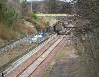 View north through the old Eskbank station on 27 March 2015.<br><br>[John Furnevel&nbsp;27/03/2015]