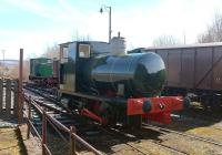 Former Ardrossan Shell Refinery Fireless locomotive No. 8 (Barclay 1952/1928) at the Ayrshire Railway Preservation Group on 5 April 2015 - needing a little more work. [See image 48234]<br><br>[Colin Miller&nbsp;05/04/2015]